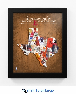 Houston Rockets Personalized State of Mind Framed Print - Texas