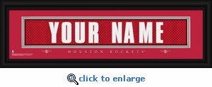 Houston Rockets Personalized Stitched Jersey Nameplate Framed Print