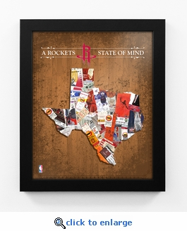 Houston Rockets State of Mind Framed Print - Texas