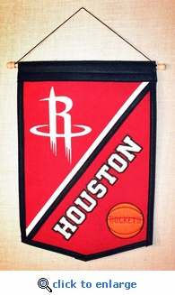 Houston Rockets Traditions Wool Banner (12 x 18)