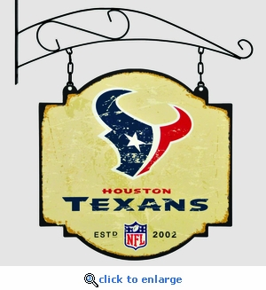Houston Texans 16 X 16 Metal Tavern / Pub Sign