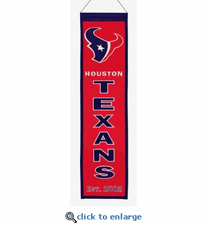 Houston Texans Heritage Wool Banner (8 x 32)