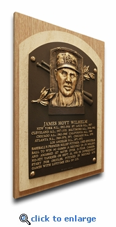Hoyt Wilhelm Baseball Hall of Fame Plaque on Canvas - New York Giants
