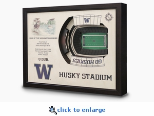 Husky Stadium 3-D Wall Art - Washington Huskies Football