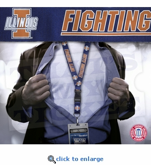 Illinois Fighting Illini NCAA Lanyard Key Chain and Ticket Holder