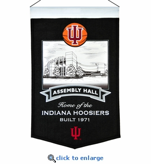 Indiana Assembly Hall Wool Banner (20 x 15) - Indiana Hoosiers