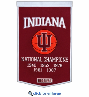 Indiana Hoosiers National Champions Dynasty Wool Banner (24 X 36)