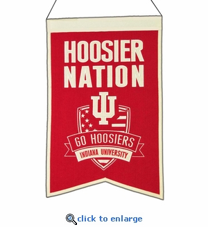 Indiana Hoosiers Nations Wool Banner (14 x 22)