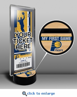 Indiana Pacers My First Game Ticket Display Stand