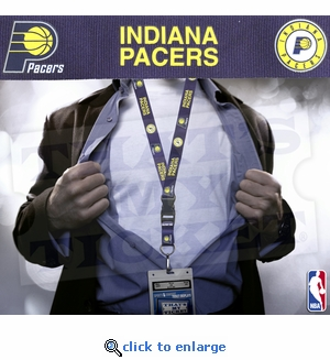 Indiana Pacers NBA Lanyard Key Chain and Ticket Holder - Blue