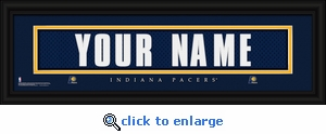 Indiana Pacers Personalized Stitched Jersey Nameplate Framed Print