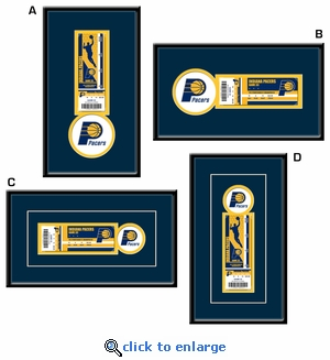 Indiana Pacers Single Ticket Frame