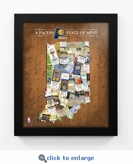 Indiana Pacers State of Mind Framed Print