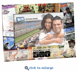 Indianapolis 500 Padded Front 4x6 Picture Frame - Ticket Collage Design