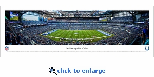 Indianapolis Colts - 50 Yard Line - Panoramic Photo (13.5 x 40)