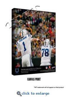 Indianapolis Colts Personalized Quarterback Action Print