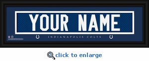 Indianapolis Colts Personalized Stitched Jersey Nameplate Framed Print