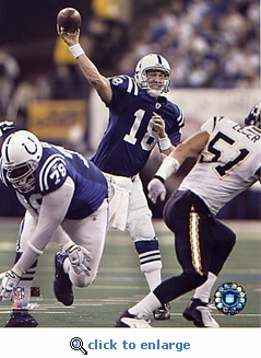 Indianapolis Colts Peyton Manning Record Breaking 49th TD 8x10 Photo