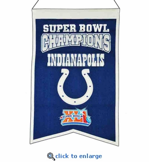 Indianapolis Colts Super Bowl Champions Wool Banner (14 x 22)