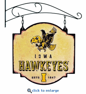 Iowa Hawkeyes 16 X 16 Metal Tavern / Pub Sign