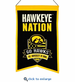 Iowa Hawkeyes Nations Wool Banner (14 x 22)
