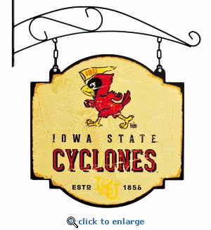 Iowa State Cyclones 16 X 16 Metal Tavern / Pub Sign