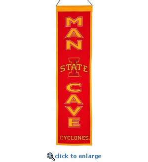 Iowa State Cyclones  Man Cave Wool Banner (8 x 32)