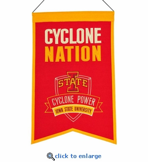 Iowa State Cyclones Nations Wool Banner (14 x 22)