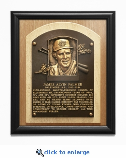 Jim Palmer Baseball Hall of Fame Plaque Framed Print - Baltimore Orioles