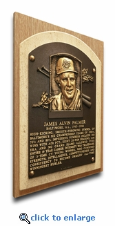 Jim Palmer Baseball Hall of Fame Plaque on Canvas - Baltimore Orioles