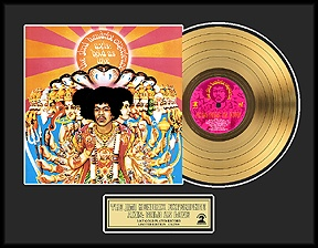 Jimi Hendrix - Axis: Bold As Love Framed Gold Record, LE 2,500