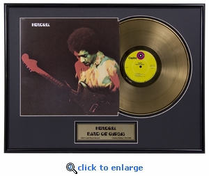 Jimi Hendrix - Band Of Gypsys Framed Gold Record, LE 2,500
