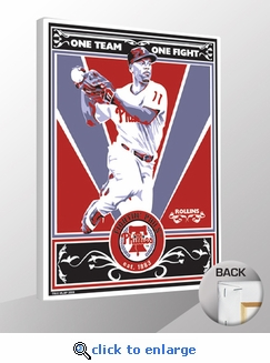 Jimmy Rollins Sports Propaganda Canvas Print - Phillies