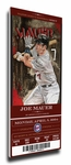 Joe Mauer Artist Series Canvas Mega Ticket - Minnesota Twins (Farano)