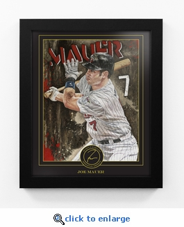 Joe Mauer Framed Digital Print by Artist Justyn Farano - Mauer