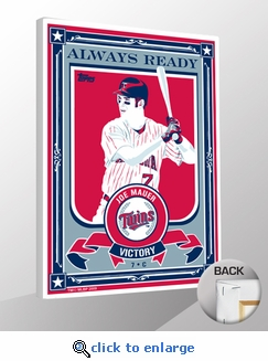 Joe Mauer Topps Sports Propaganda Canvas Print - Twins