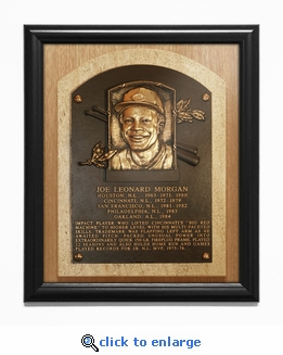Joe Morgan Baseball Hall of Fame Plaque Framed Print - Cincinnati Reds