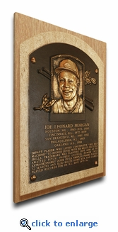 Joe Morgan Baseball Hall of Fame Plaque on Canvas - Cincinnati Reds