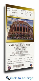 Johan Santana No Hitter Canvas Mega Ticket - New York Mets