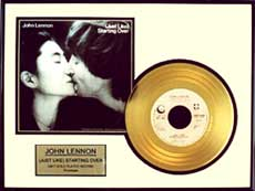 John Lennon - Just Like Starting Over Framed Gold Record