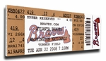 John Smoltz 3,000 Strike Out Canvas Mega Ticket - Atlanta Braves
