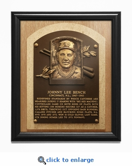 Johnny Bench Baseball Hall of Fame Plaque Framed Print - Cincinnati Reds