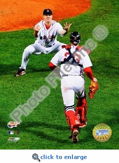 Jonathan Papelbon 2007 ALCS Game 7 Celebration 8x10 Photo