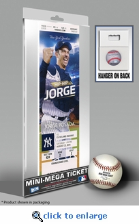 Jorge Posada Day (8/22/15) Mini-Mega Ticket - New York Yankees