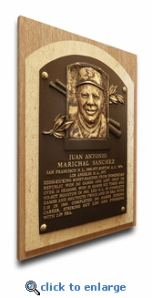 Juan Marichal Baseball Hall of Fame Plaque on Canvas - San Francisco Giants