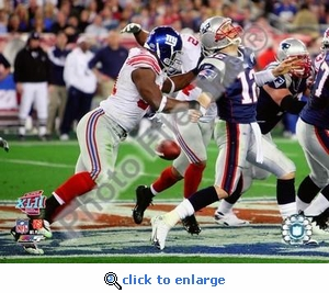 Justin Tuck Super Bowl XLII 8x10 Photo