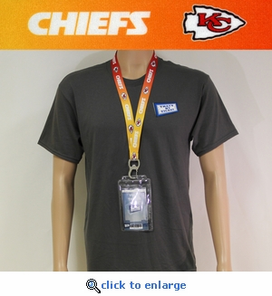Kansas City Chiefs Lanyard Key Chain Bottle Opener and Ticket Holder