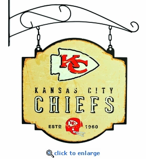 Kansas City Chiefs 16 X 16 Metal Tavern / Pub Sign