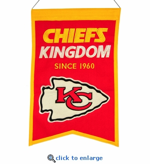 Kansas City Chiefs Franchise Wool Banner (14 x 22)