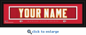 Kansas City Chiefs Personalized Stitched Jersey Nameplate Framed Print